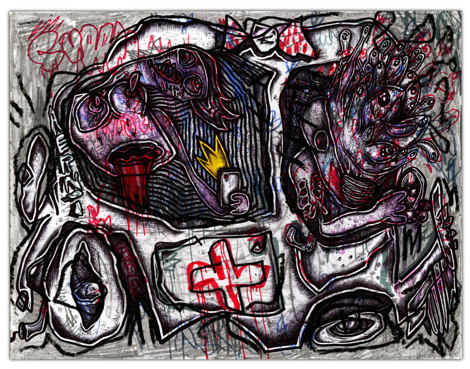 Outsider artist Justin Aerni talks about thriving in the current chaos